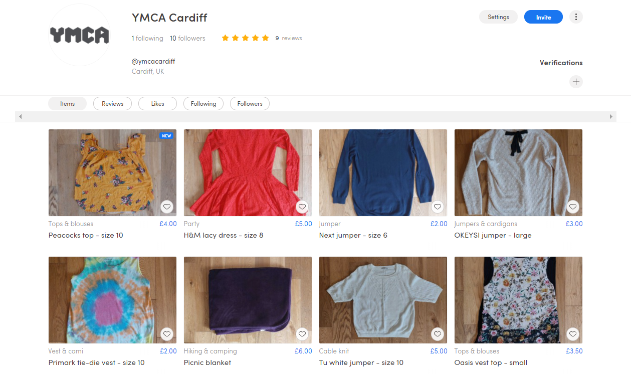ymca, cardiff, marketplace, buy, sell, swap, charity